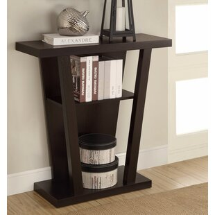 Benzara Angled Wooden Console Table