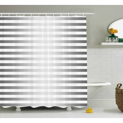 Enrique Horizontal Zebra Stripe Shower Curtain