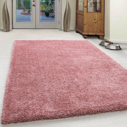 Shaggy-Teppich Jenelle in Rose Farben 17 Stories Teppichgröße: Rechteckig 60 x 110 cm | Heimtextilien > Teppiche > Sonstige-Teppiche | 17 Stories
