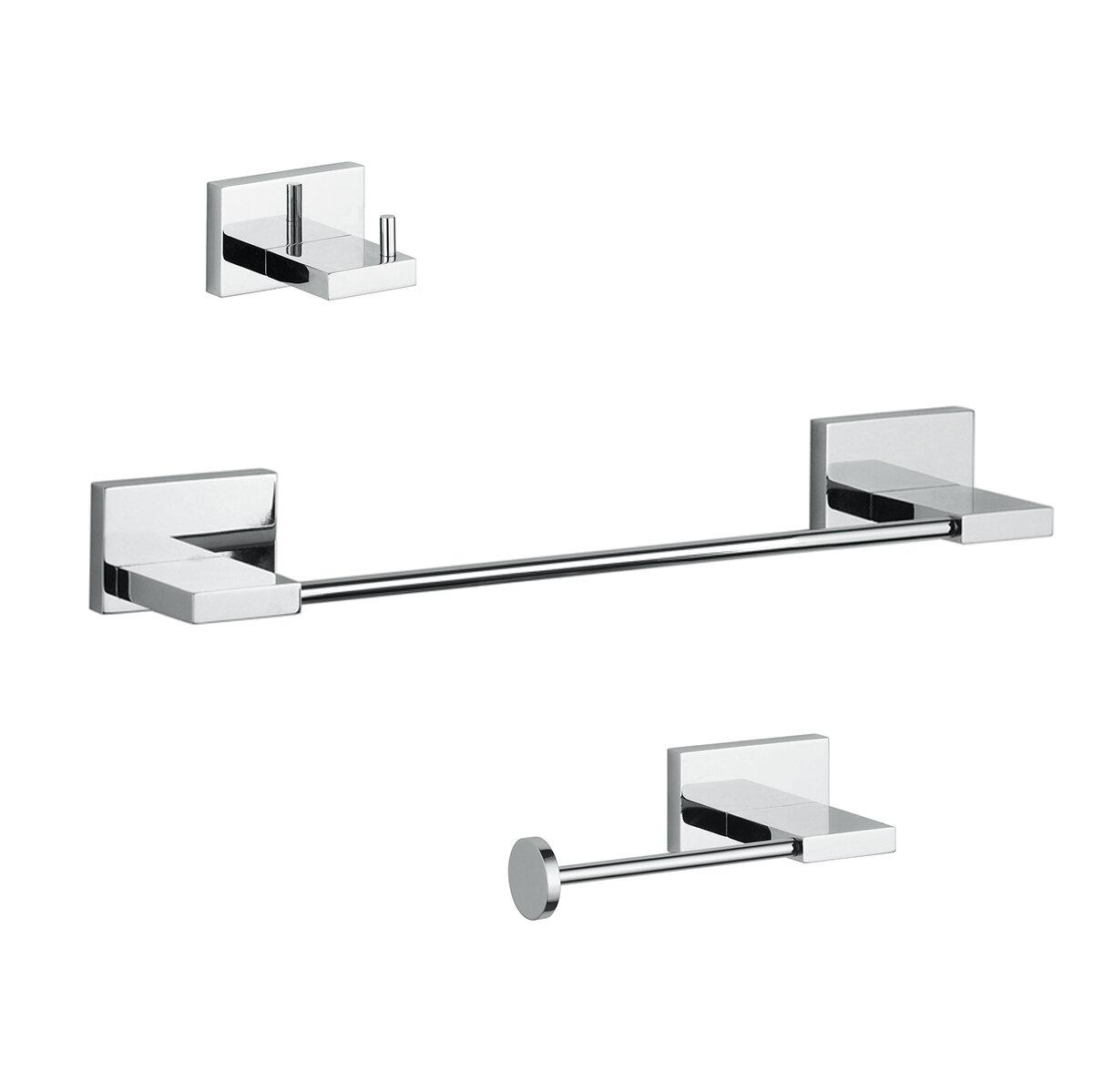 WS Bath Collections Carmel 3 Piece Bathroom Hardware Set & Reviews ...