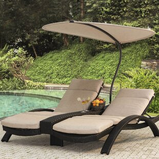 Barlyne Double Chaise Lounge with Cushion