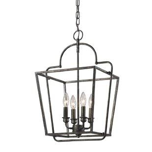 Top Reviews Thea 4-Light Lantern Chandelier By Gracie Oaks