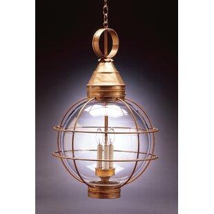 Northeast Lantern Onion 3-Light Outdoor Hanging Lantern