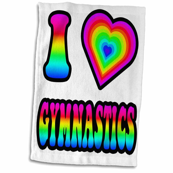 East Urban Home Noe Groovy Hippie Rainbow I Heart Love Gymnastics Hand Towel Wayfair