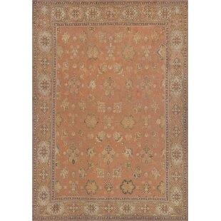 One-of-a-Kind Antique Oushak Handwoven Wool Terracotta Indoor Area Rug by Mansour