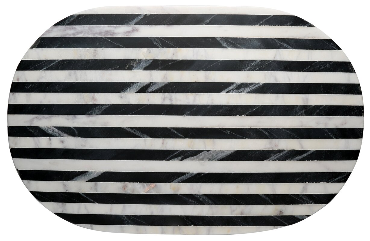 Thirstystone® Old Hollywood Striped Marble Serving Tray