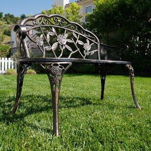 Lark Manor Larue Rose Iron Garden Bench