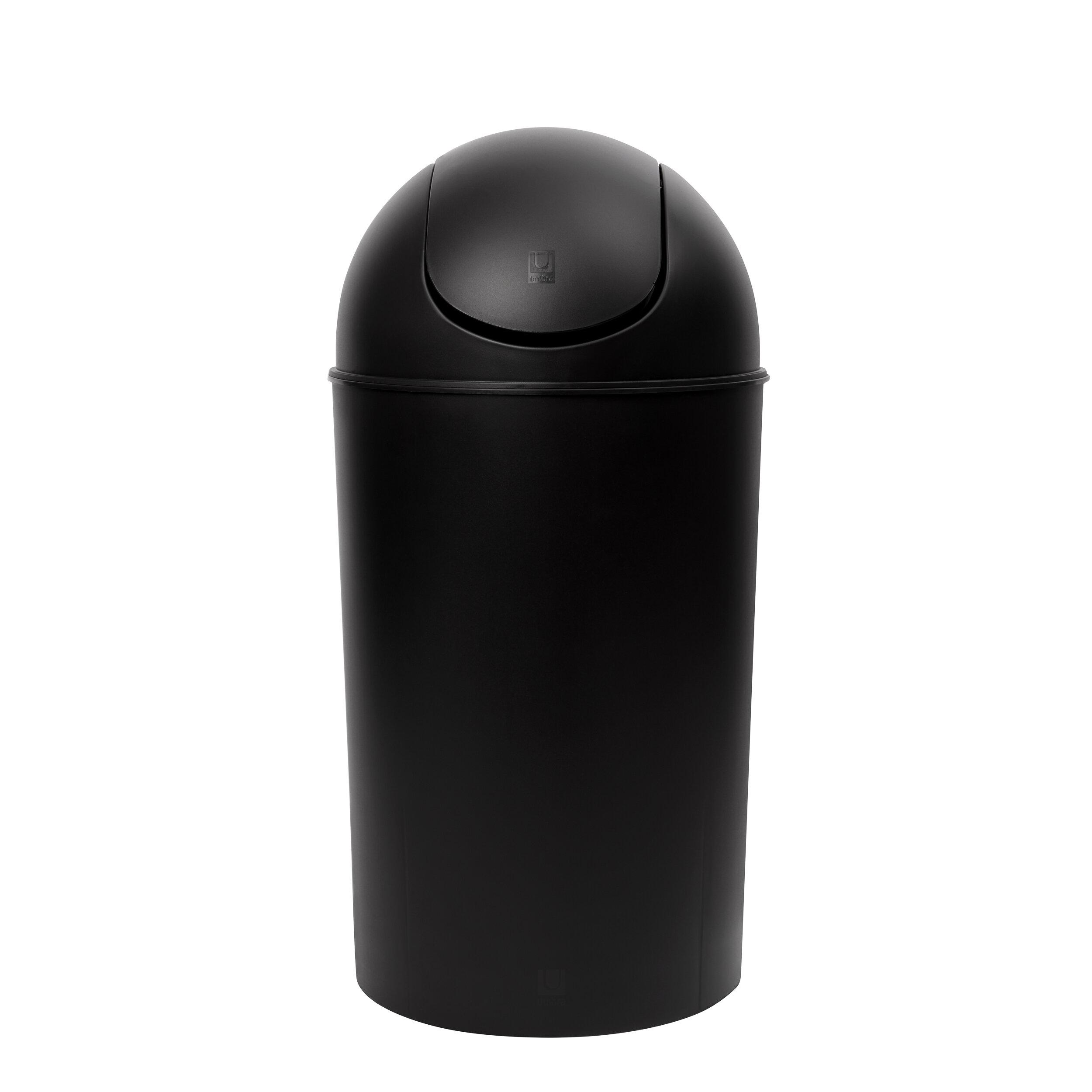 InterDesign 5L Steel Step Can with Bucket Insert for Bathroom Bronze Office Kitchen