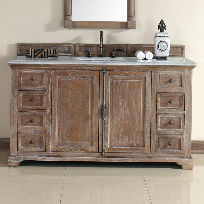 Ogallala 60 Single Driftwood Bathroom Vanity Set
