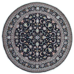 Clearance One-of-a-Kind Penni Oriental Round Hand Woven Wool Black Area Rug By Isabelline