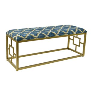, Lustrous Lattice Amee Upholstered Bench by Everly Quinn