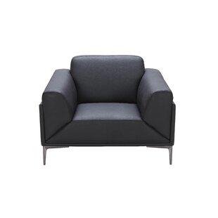 Brisbin Leather Armchair byWade Logan