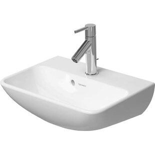 Best Review Me by Starck Ceramic 39 Wall Mount Bathroom Sink with Overflow By Duravit