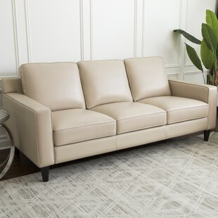 Oaklynn Leather Sofa by Darby Home Co