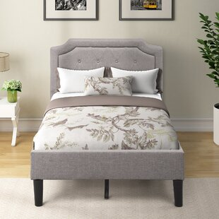 Akkie Tufted Upholstered Low Profile Platform Bed by Latitude Run