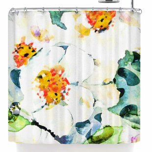 Watercolor Flowers Single Shower Curtain
