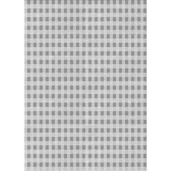 East Urban Home Checkered Wool Gray Area Rug Wayfair