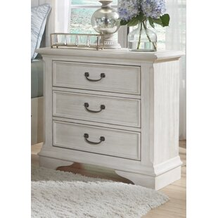 Compare prices Trenton 3 Drawer Nightstand by Rosecliff Heights