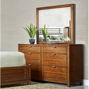 Fairfax Home Collections Southampton 6 Drawer Double Dresser with Mirror