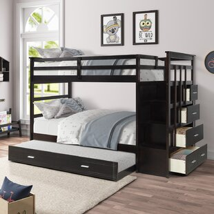 Laramie Twin over Twin Bunk Bed with Trundle by Harriet Bee