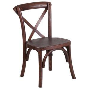 Ivonne Cross Back Kids Chair by Loon Peak