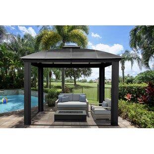 vermont 11 ft w x 11 ft d metal patio gazebo - Metal Roof Gazebo