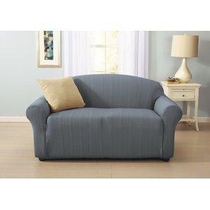 Darla Cable Knit Box Cushion Loveseat Slipcover
