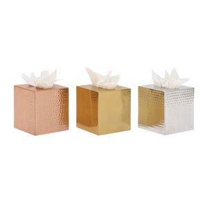 aluminum tissue box cover set of 3