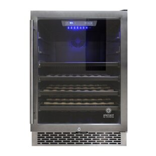 53 Bottle Stainless Steel Single Zone Built-In Wine Cooler