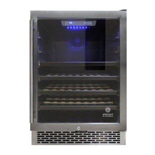 53 Bottle Stainless Steel Single Zone Built-In Wine Cooler