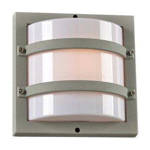 Ebern Designs Maidste 1-Light Outdoor Flush Mount