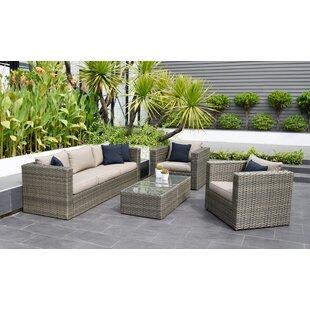 Moyne 5 Piece Sofa Set with Cushions by Beachcrest Home