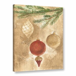 Christmas Ornaments Painting Print on Wrapped Canvas