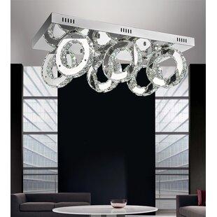 Orren Ellis Bacon 36-Light LED Flush Mount