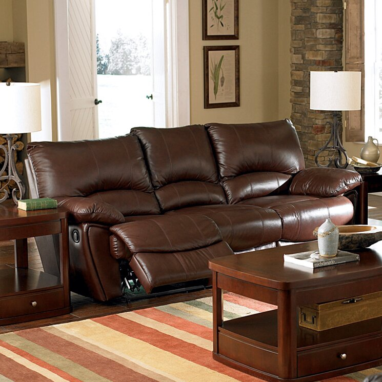 Wildon Home Red Bluff Genuine Leather