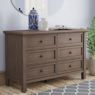 University Place Rustic 6 Drawer Double Dresser