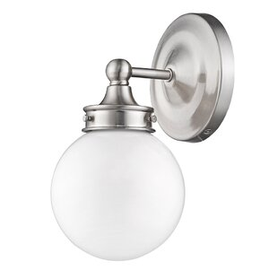 Best Reviews Wilmore 1-Light Bath Sconce By Alcott Hill