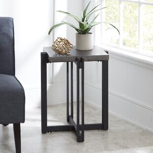 Price comparison Baran Distressed End Table By Ivy Bronx