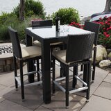 Ibiza 5 Piece Dining Set with Cushions