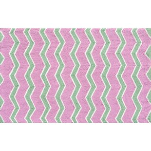 Inexpensive Hand-Hooked Pink Area Rug By The Conestoga Trading Co.