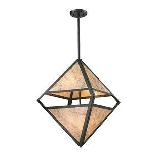 Butcher 4-Light Geometric Chandelier by Millwood Pines