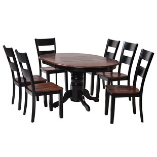 Valleyview 7 Piece Solid Wood Dining Set ..