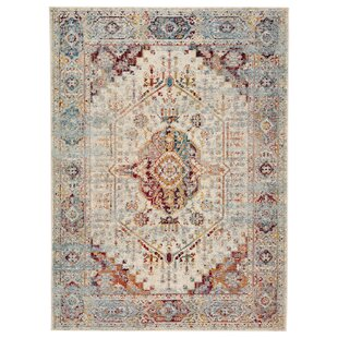 Valletta Medallion Beige/Blue Indoor/Outdoor Area Rug