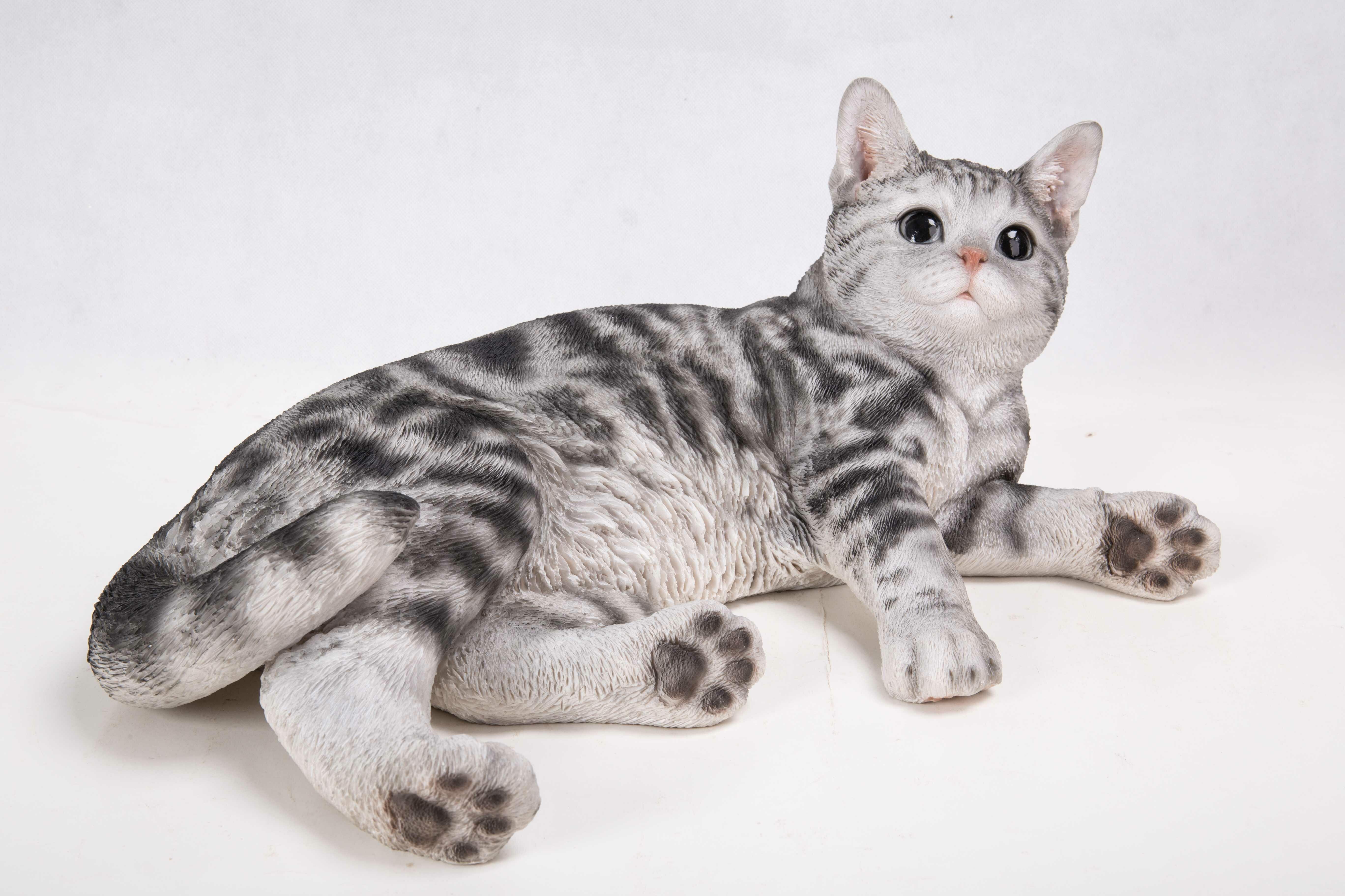 hi line gift ltd lying down american shorthair cat statue wayfair
