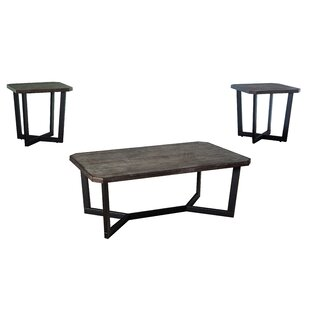 Williston Forge Brockway 3 Piece Occasional Coffee Table Set