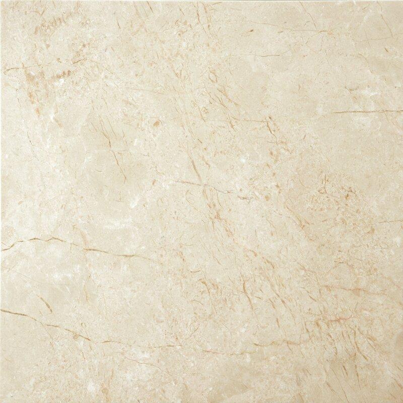 "Crema Marfil Porcelain Tile: Emser Tile Marble 24"" X 24"" Field Tile In Crema Marfil"