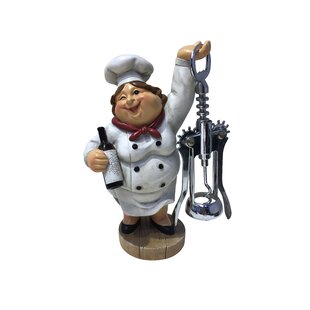 Winking Fat Lady Italian Chef Figurine