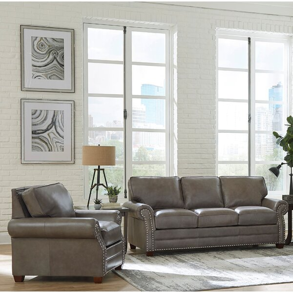 Pleasant 2 Piece Leather Sofa Set Wayfair Customarchery Wood Chair Design Ideas Customarcherynet