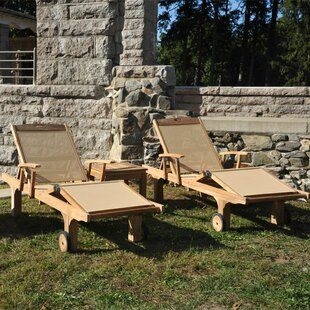 Chesapeake Teak Indoor/Outdoor Chaise Lounge (Set of 2)
