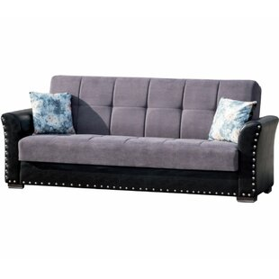 Virginis Chenille 88 Inches Round Arms Sleeper By Winston Porter